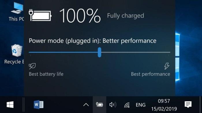 Исчез значок батареи на ноутбуке с Windows 10