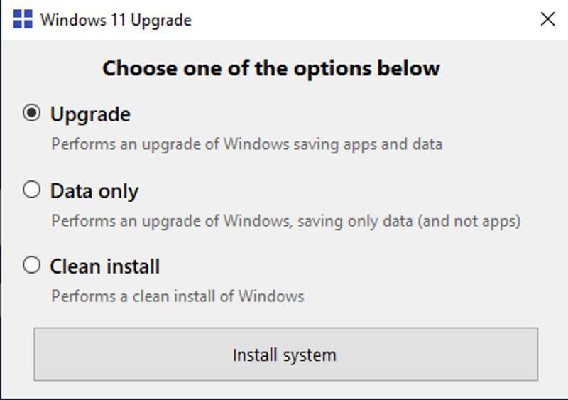 Windows11Upgrade - новый инструмент для обхода требований в Windows 11