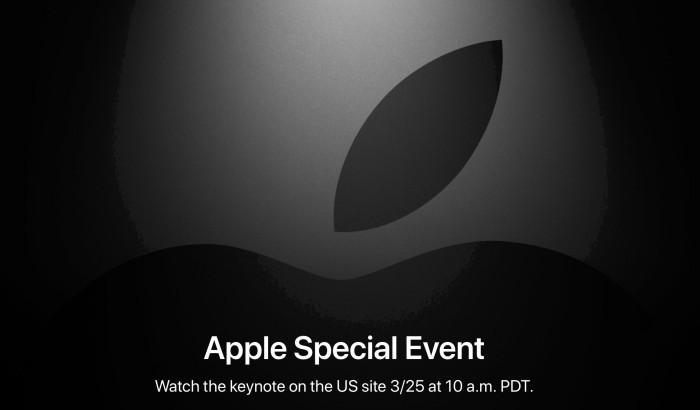 Apple рассылает приглашения для прессы на весеннее мероприятие компании