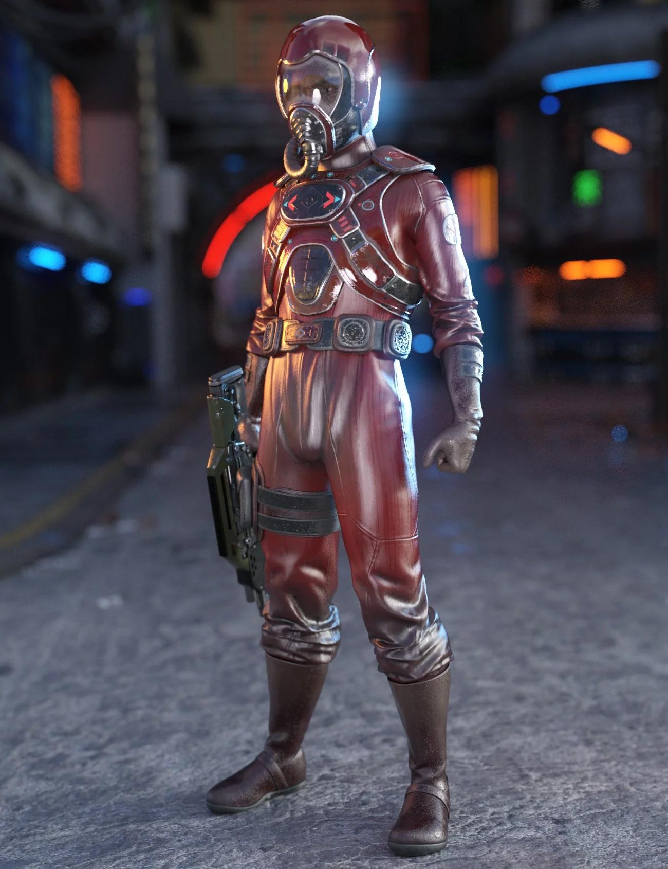 Battle Pilot Outfit for Genesis 8 Male(s)