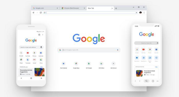 Chrome с новым дизайном