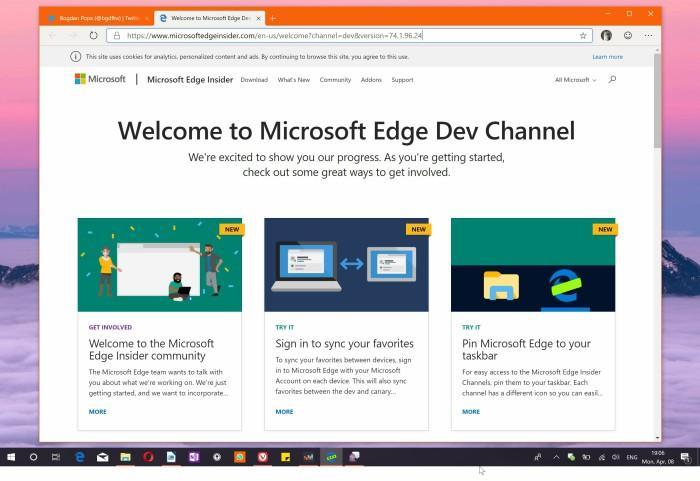 Браузер Microsoft Edge на основе Сrome доступен для загрузки на Windows 10