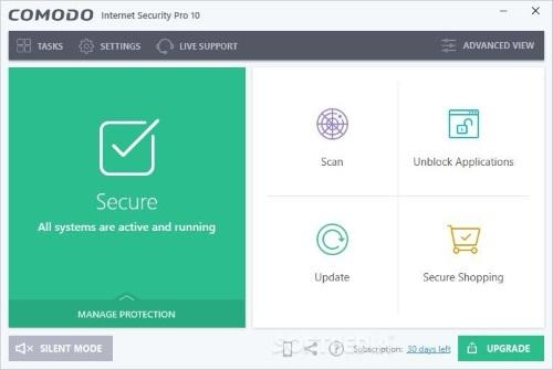 Comodo Internet Security 10 теперь доступен для пользователей