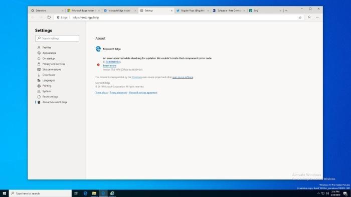 Microsoft выпустит браузер Edge для старых версий Windows