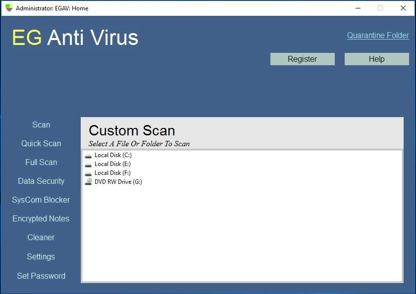 EG Anti Virus - защищает от вирусов и хакеров