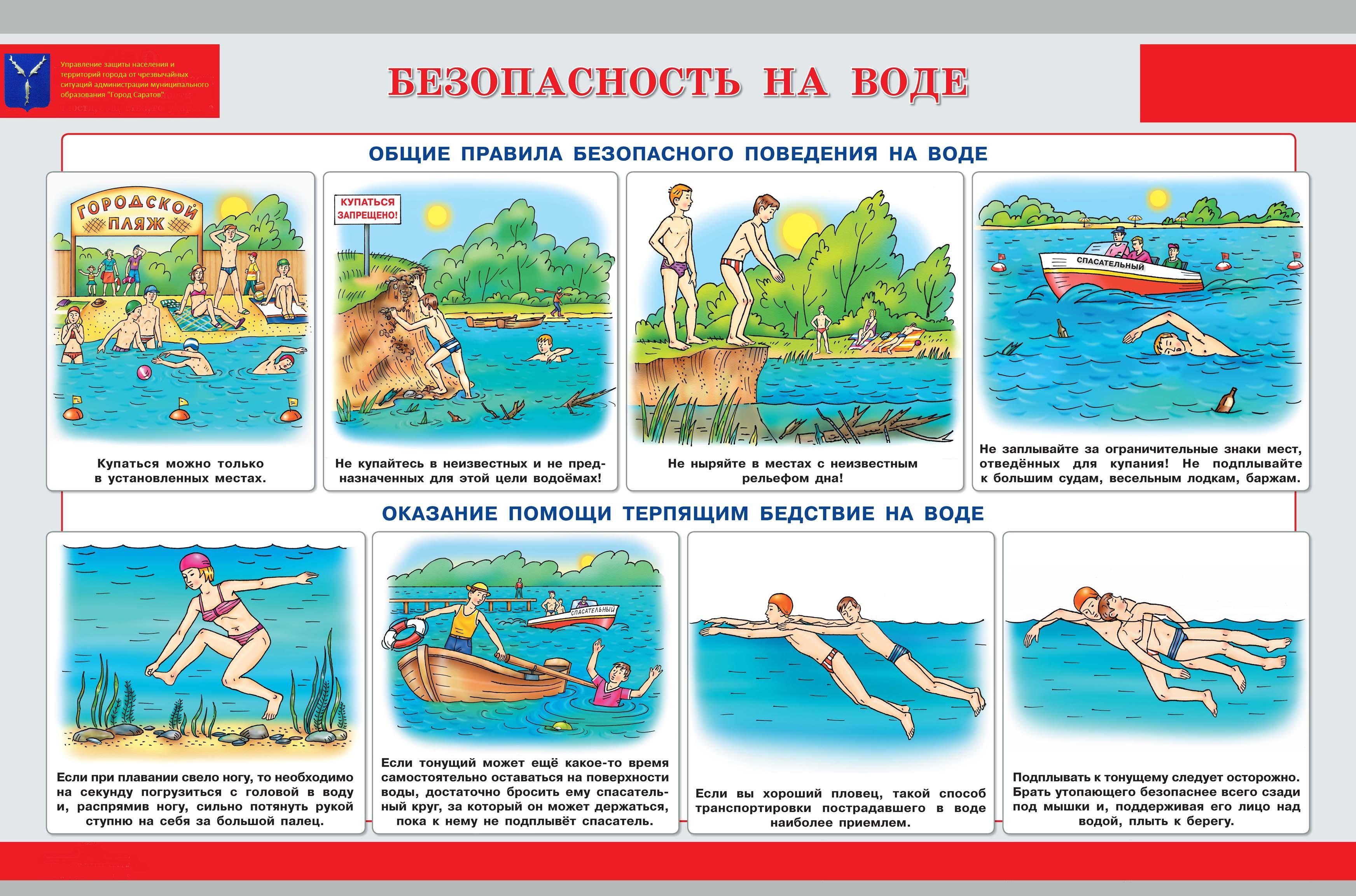 Правила безопасного поведения детей на воде