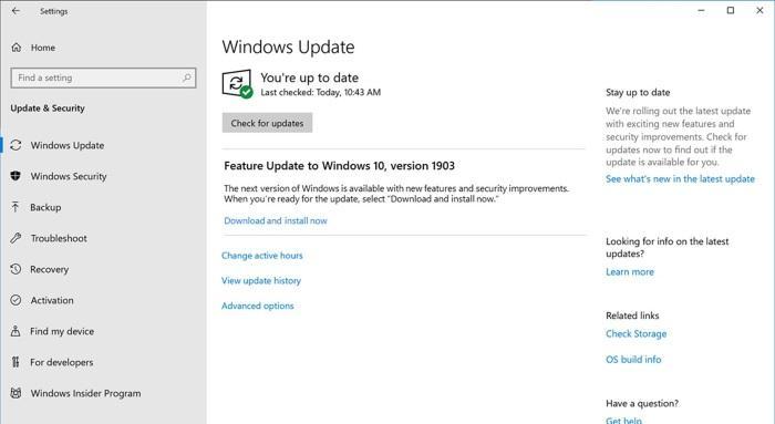 Как заблокировать обновление Windows 10 May 2019 Update