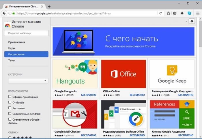 Несколько нужных расширений для браузера Google Chrome