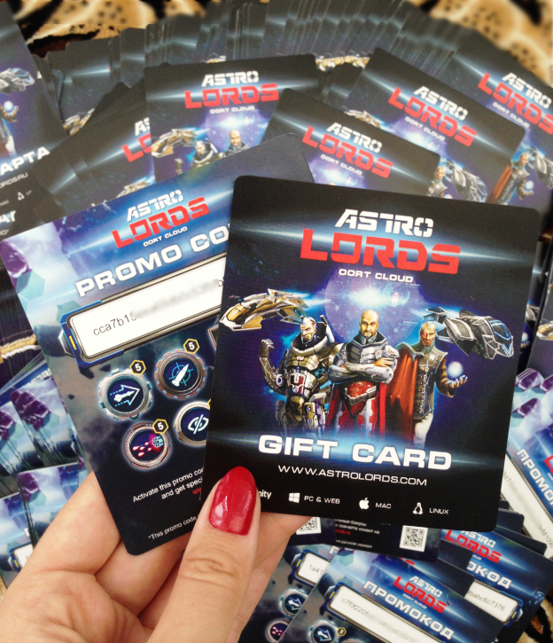 Astro Lords Gift card with promocodes