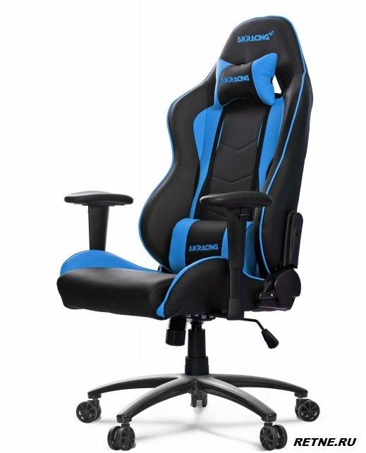 Кресло геймерское AKRACING NITRO black/blue