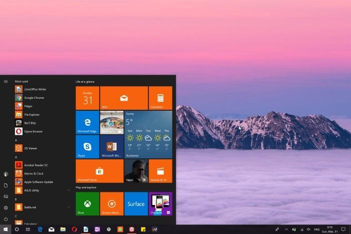 Microsoft исправляет косяки в Windows 10 версии 1903 перед запуском