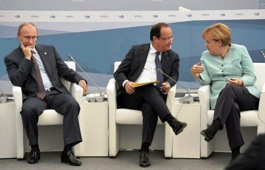 """Многочасовые переговоры между Меркель, Олландом и Путиным завершены. Итоги подведут 8 февраля в """"нормандском формате"""" - Цензор.НЕТ 2671"""