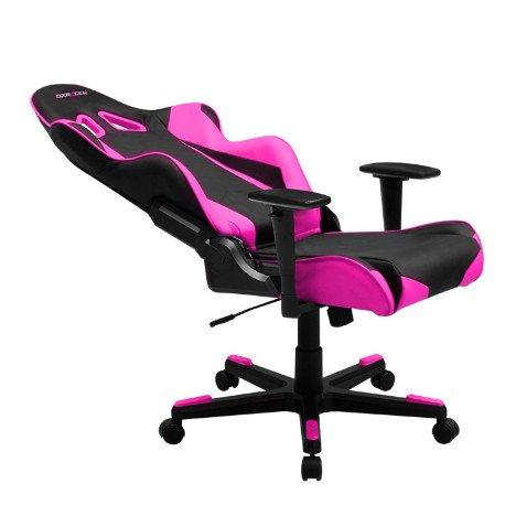 DXRacer OH/RE0/NP - эксклюзивное черно-розовое геймерское кресло серии Racing для современного  интерьера.