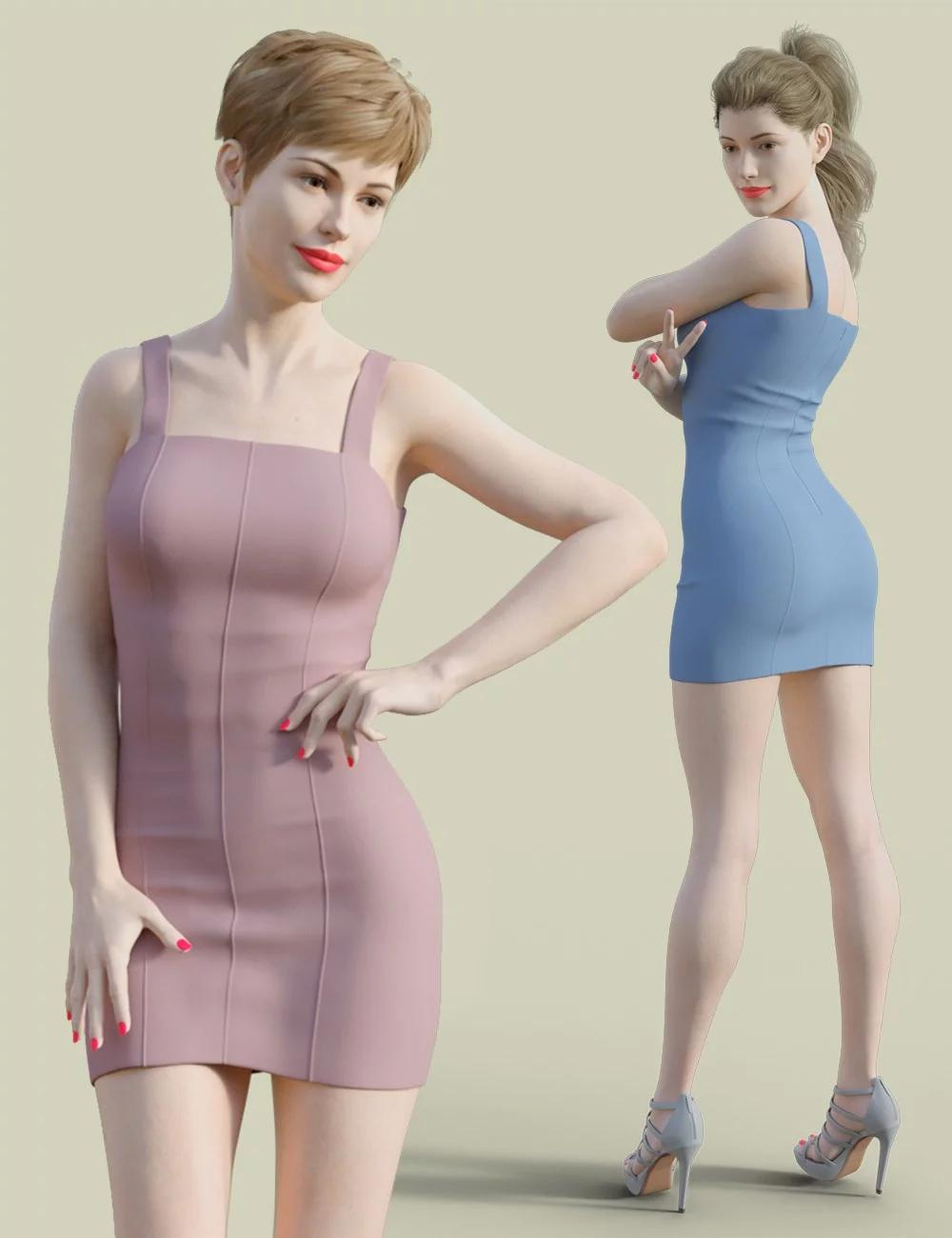 H&C Club Dress D for Genesis 3 & 8 Female