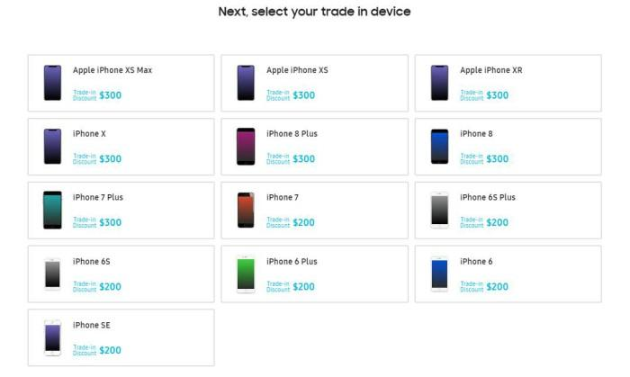 Samsung запустил программу Trade-In для IPhone и других моделей смартфонов
