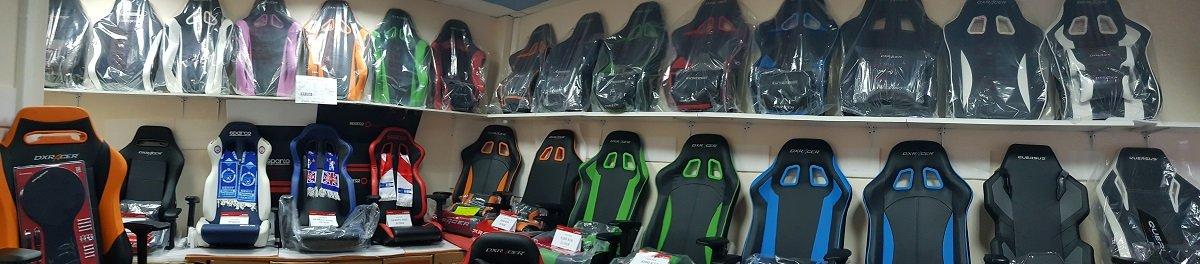 игровое кресло DXRacer King серии в Чёрно-сером цвете.