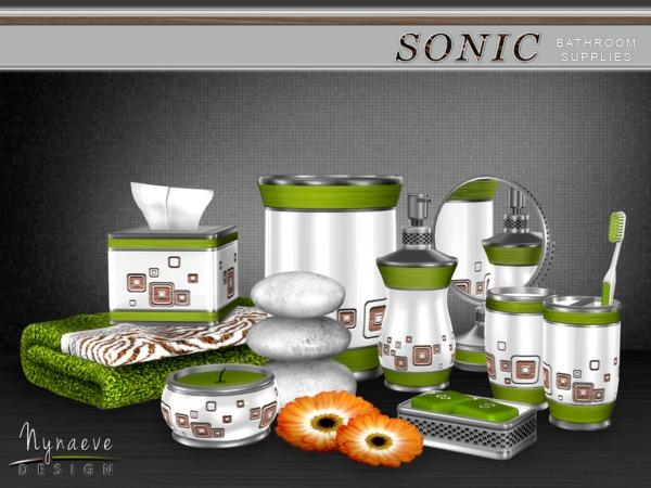 Sonic Bathroom Supplies (the Sims 4 & the Sims 3) by NynaeveDesign