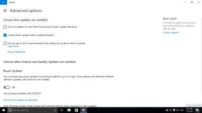 Windows 10 Redstone 2 позволит исключить драйвера из обновлений Windows