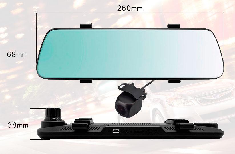 автомобильный видеорегистратор зеркало с камерой заднего