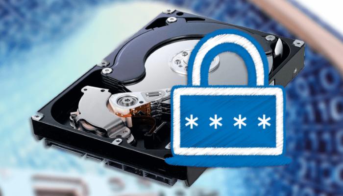Устанавливаем пароль на жесткий диск