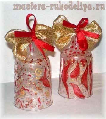 Новогодние колокольчики из одноразовых стаканчиков 0_3a9d2_39e0da8f_L.1546143267