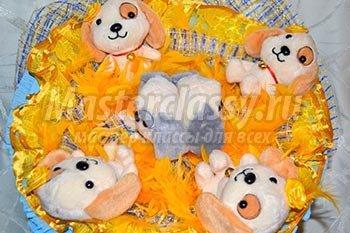Букет из мягких игрушек: подарок для мальчика 1386830116_1.1552451438