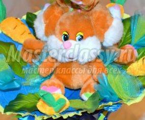 Букет из мягких игрушек своими руками. Летняя полянка 1389422436_anons.1552883256