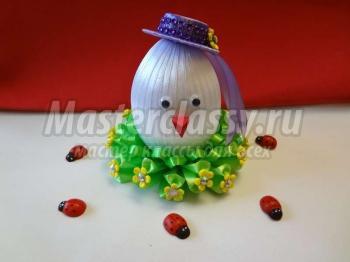 Декоративные яйца на Пасху. Цыплёнке в цветочной поляне 1553762024_itogovoe2-copy.1553916843