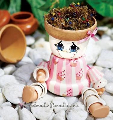 Креатив из цветочных горшков Kashpo-chelovechki-iz-tsvetochnyih-gorshkov-2.1556769176