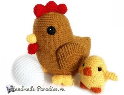 Курочка с цыпленком Kurochka-s-tsyplenkom-amigurumi-2.1555211996