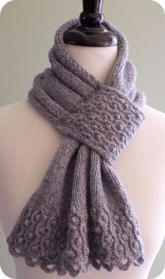 Креативный шарф спицами B4e2e3ad.1546408576