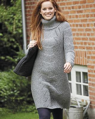 Серое платье-свитер для женщин, любящих комфорт Emxch28lewm.1547443862