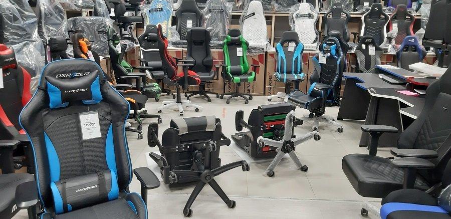 геймерское кресло вид снизу