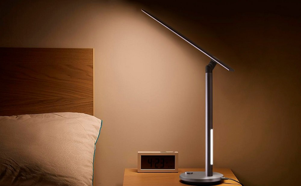 ONKRON LED Dimmable Desk Table Lamp with 3 Lighting Modes Dual Light D5A