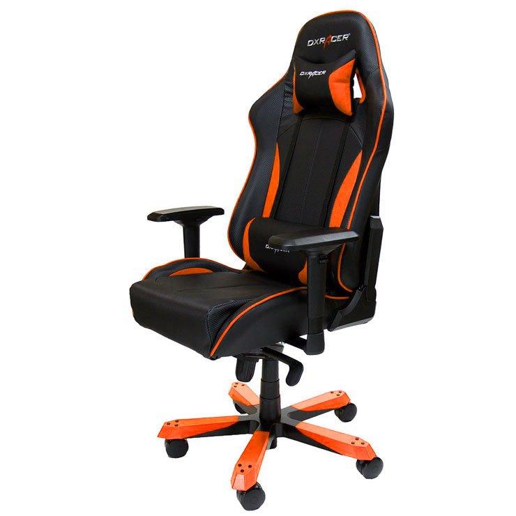 Кресло игровое DXRacer King чёрно-оранжевое (OH/KS57/NO)