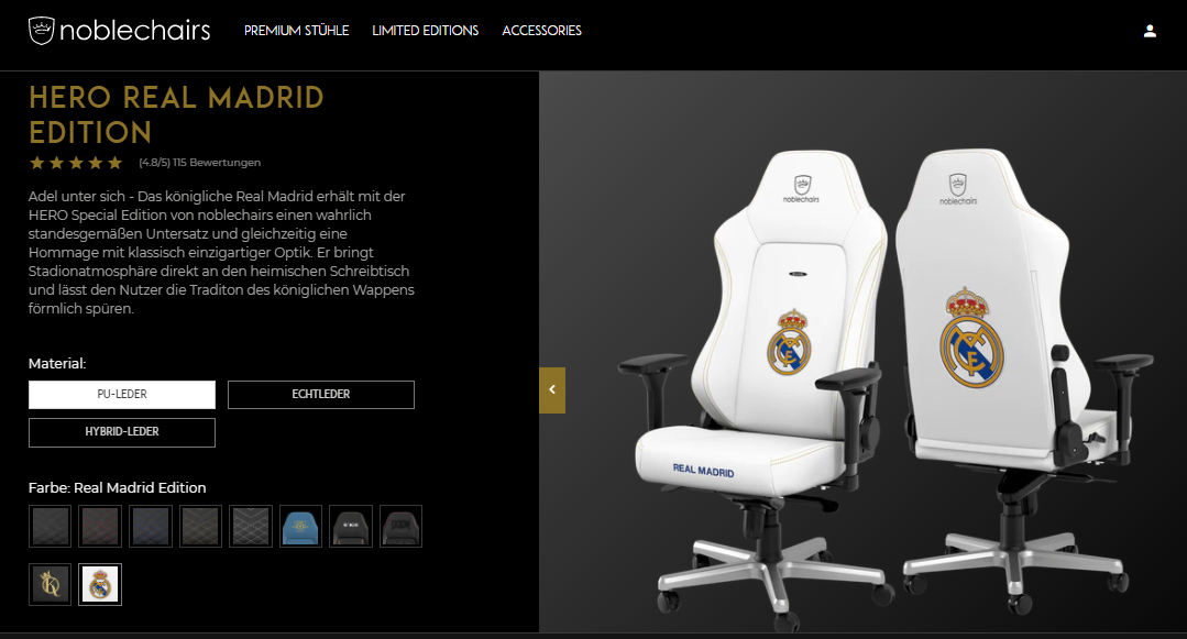 HERO REAL MADRID EDITION Noblechairs