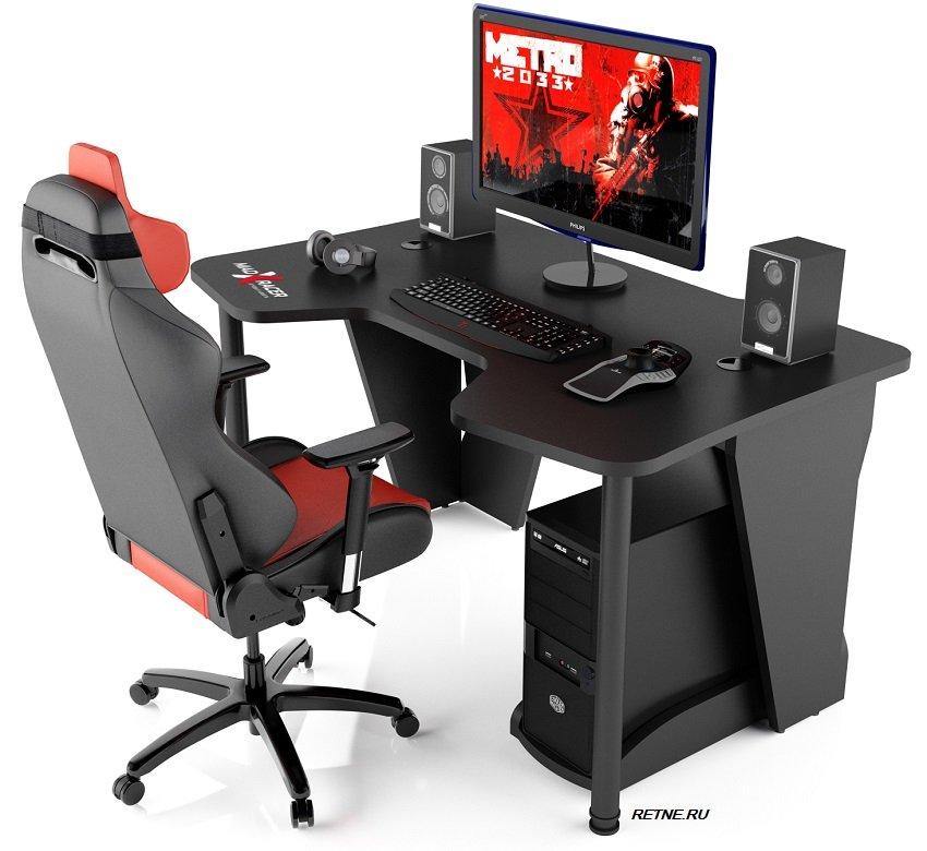 игровой стол MaDXRacer чёрный