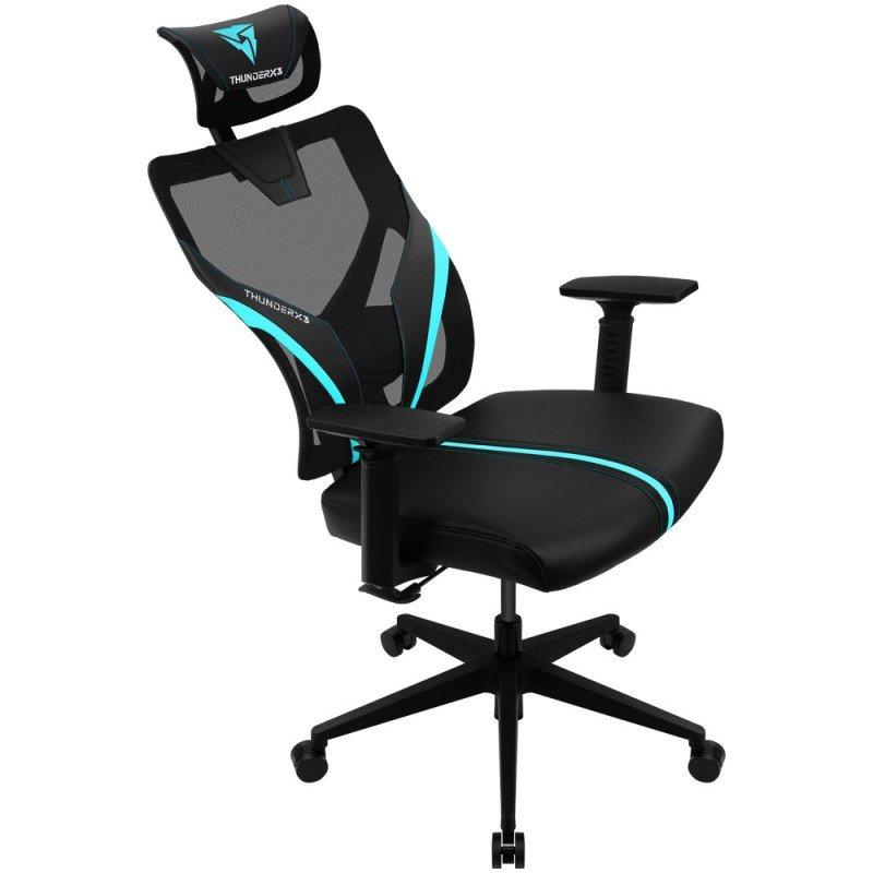 Кресло компьютерное игровое ThunderX3 YAMA1 черно-голубой