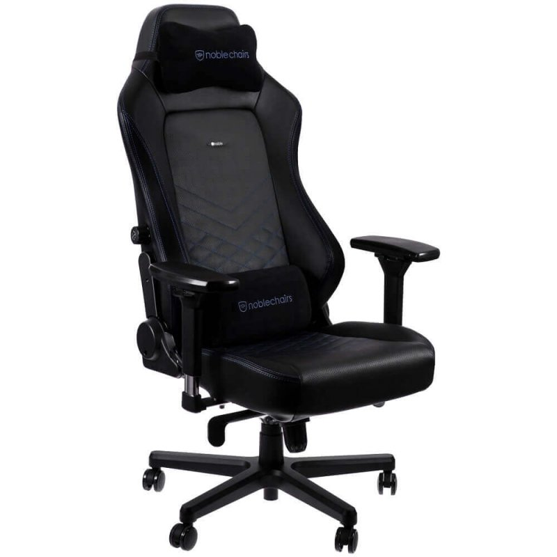 Кресло геймерское Noblechairs HERO (NBL-HRO-PU-BBL) PU Leather / black/blue