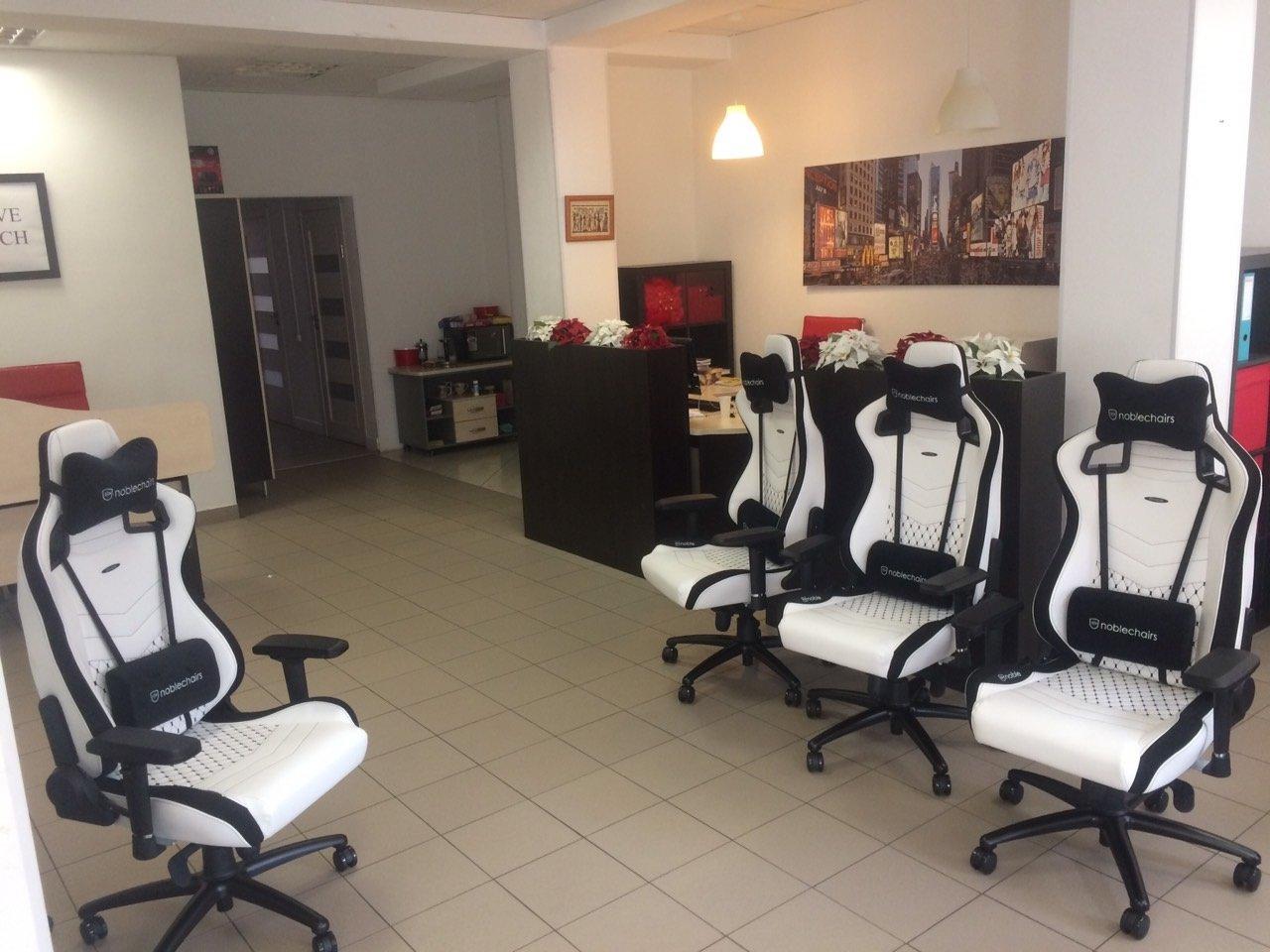 Игровое Кресло Noblechairs EPIC (NBL-PU-WHT-001) PU Leather / white
