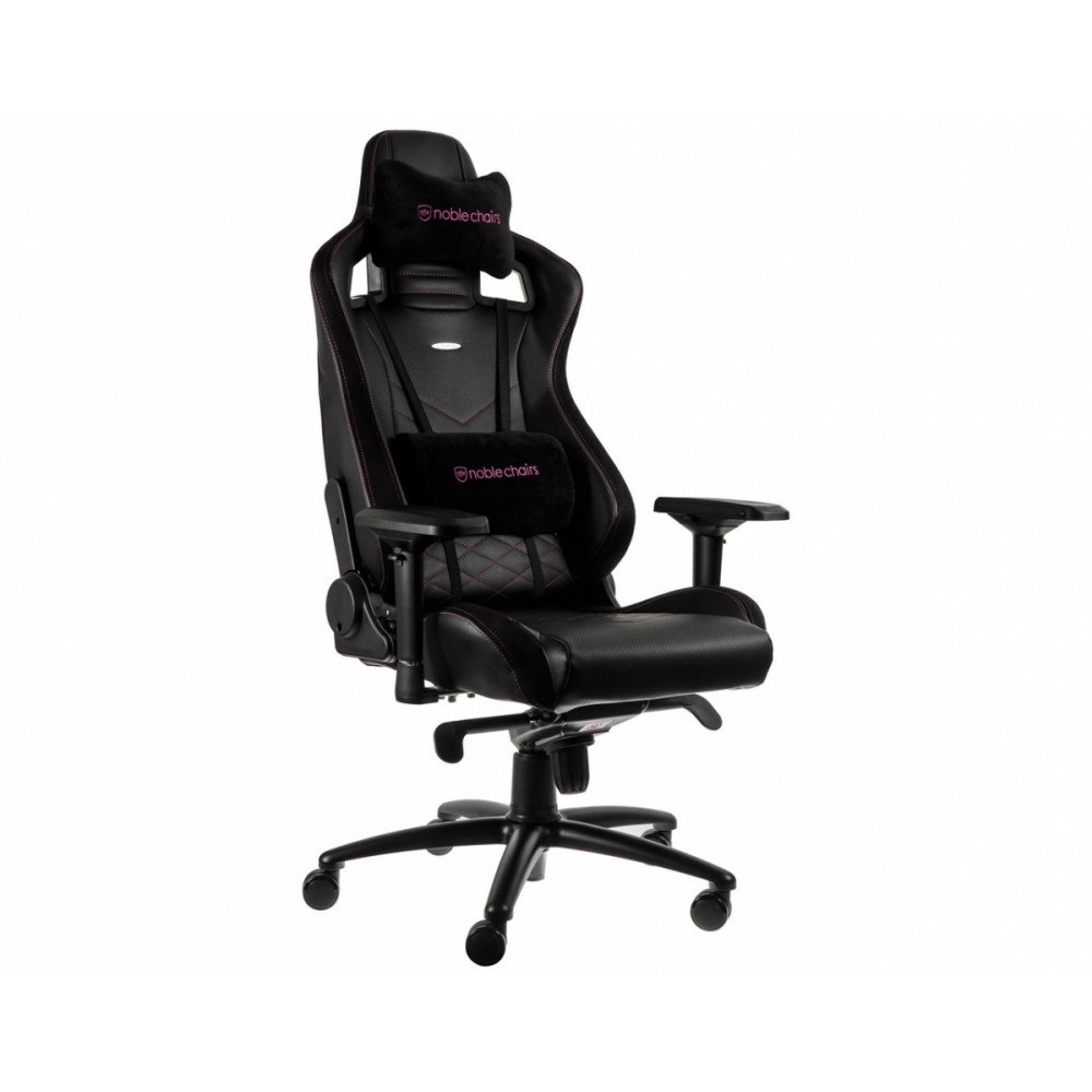 noblechairs EPIC Black/Pink розовое игровое кресло