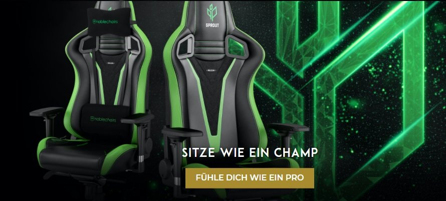 Noblechairs EPIC (NBL-PU-SPE-001) PU Leather / Sprout Edition Edition