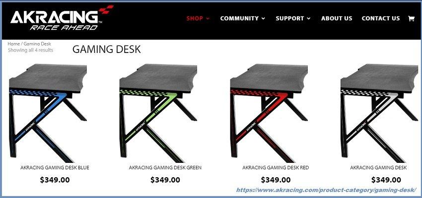 игровой стол Акрасинг AKRacing GAMING DESK